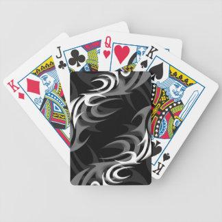 """White on Black """"Smoke"""" Playing Cards"""