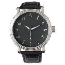 White on Black Wrist Watch