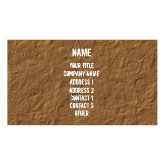 White on Crinkled Parchment Double-Sided Standard Business Cards (Pack Of 100)