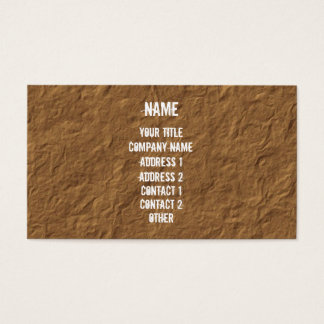 White on Crinkled Parchment Business Card