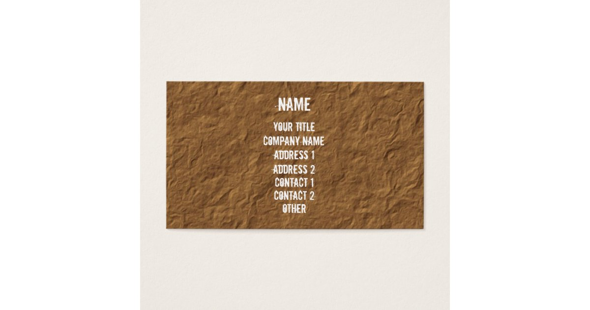 White on Crinkled Parchment Business Card | Zazzle.com