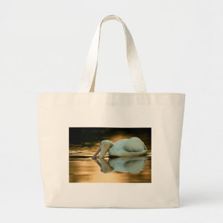 White on Gold Tote Bags