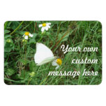 White on Green Personalized Rectangular Photo Magnet