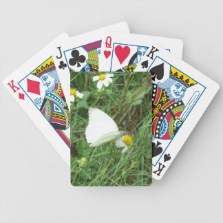 White on Green Playing Cards
