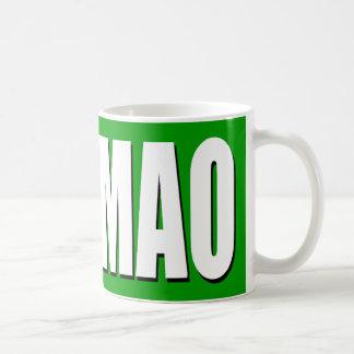 White on Green ROFLMAO Mug