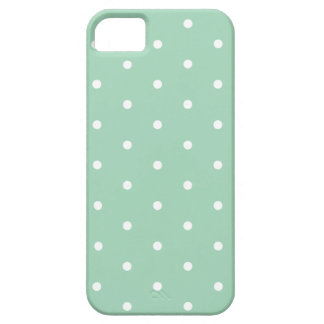 White on Mint Polka Dots iPhone 5 Case