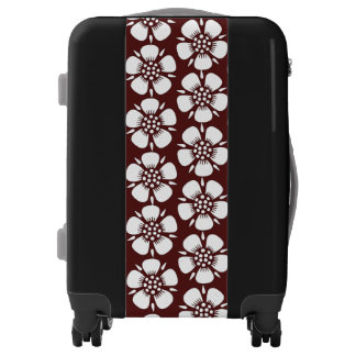 White on Red Cherry Blossoms Luggage