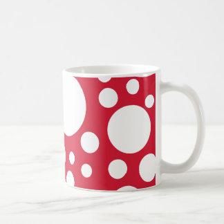 White on red dots coffee mug