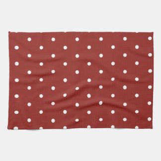 White on Red Polka Dots Towel
