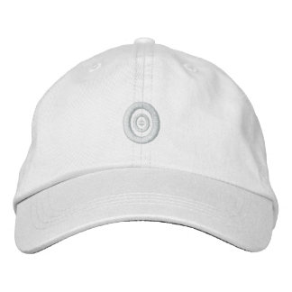 White On White Concentric Embroidery Hat Embroidered Hat