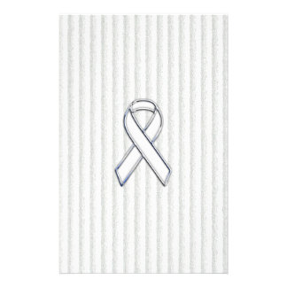 White on White Ribbon Awareness Stripes Flyer