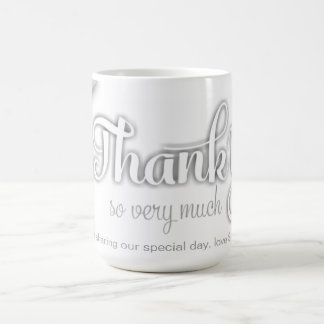 White on White Rose Thank You so very much Coffee Mug