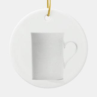White on White - Shades of White Ceramic Ornament