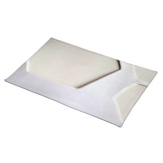 WHITE ON WHITE SHIMMER LARGE PLACEMATS