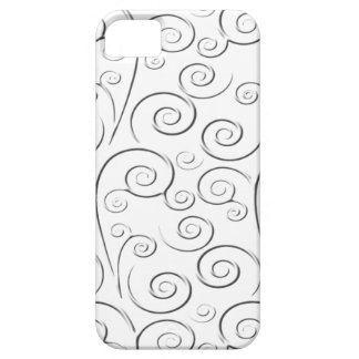 White on white swirls iPhone 5 cover