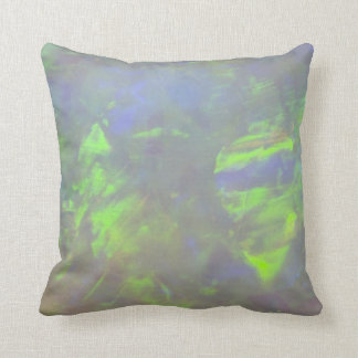 White Opal - Play of Color Throw Pillow