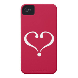 White open heart in network of love on Valentine's iPhone 4 Cover