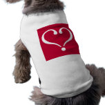 White open heart in red of love on Valentine's Day Ropa De Perro