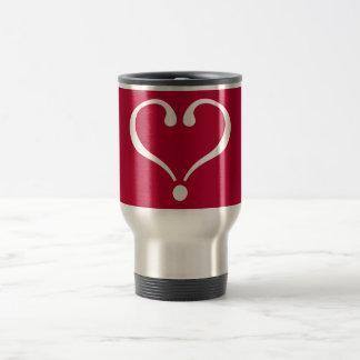 White open heart in red of love on Valentine's Day Taza De Café
