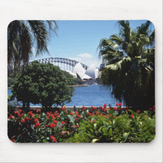 White Opera House in background Sydney Australia Mousepads