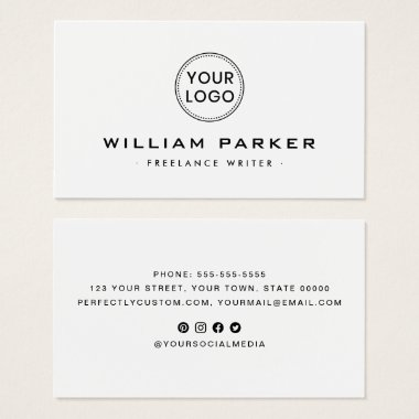 White or any color modern business cards