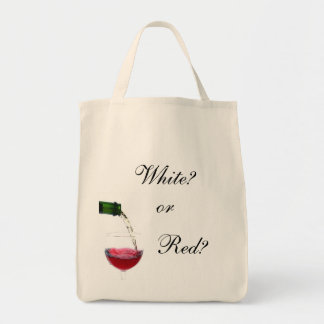 White?, or, Red? Tote Bag