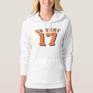 White & Orange Adults | Sports Jersey Design Hoodie