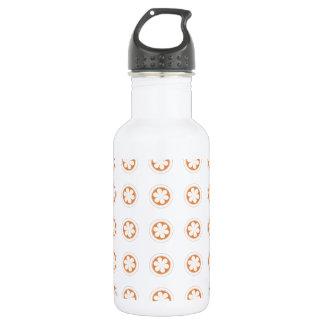 White & Orange Apple Blossoms Water Bottle