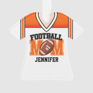 White/Orange/Black Football Mom Jersey Ornament