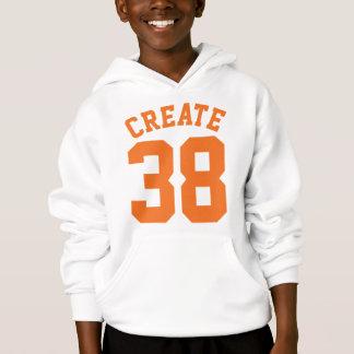 White & Orange Kids | Sports Jersey Design Hoodie