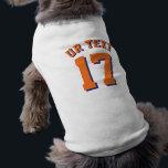 "White &amp; Orange Pets | Sports Jersey Design T-Shirt<br><div class=""desc"">White &amp; Orange Pets | Sports Jersey Design • Dog Jersey Pet Clothing</div>"
