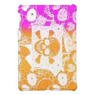 White Orange Pink Skull iPad Mini Case
