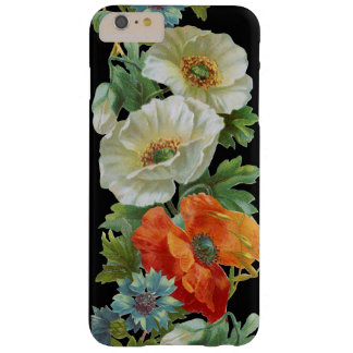 White Orange Poppies Vintage Art iPhone6 Plus case Barely There iPhone 6 Plus Case