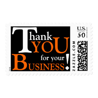 """White & Orange """"Thank you for your Business"""" Postage"""