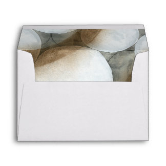 White Orbs & Brown Circles Envelope