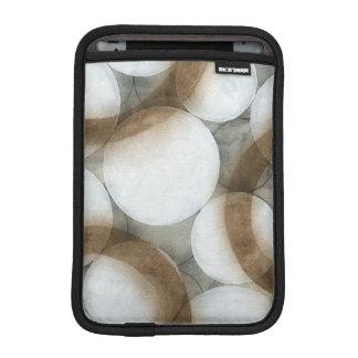 White Orbs & Brown Circles iPad Mini Sleeve