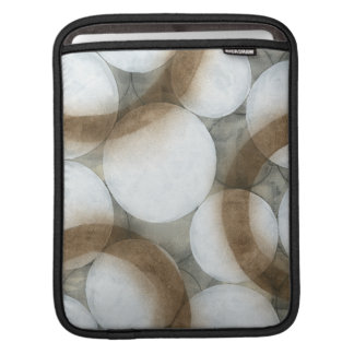 White Orbs & Brown Circles Sleeve For iPads