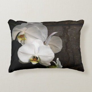 White Orchid Accent Pillow