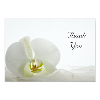 White Orchid and Veil Flat Thank You Notes Card