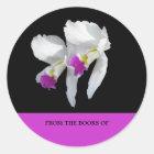 White Orchid Bookplate