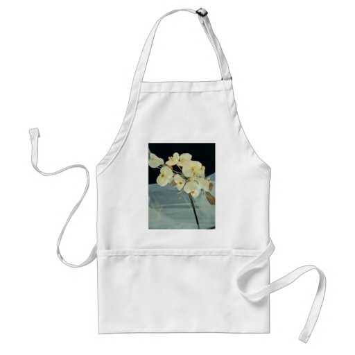 white Orchid bridal bouquet - Phalaenopsis flowers Adult Apron