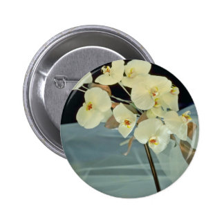 white Orchid bridal bouquet - Phalaenopsis flowers Button