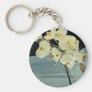 white Orchid bridal bouquet - Phalaenopsis flowers Keychains