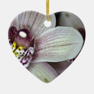 White Orchid Ceramic Ornament