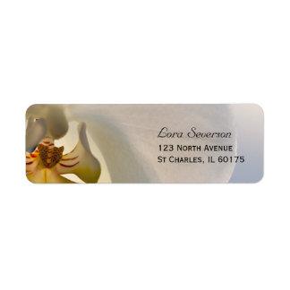 White Orchid Elegance Return Address Label