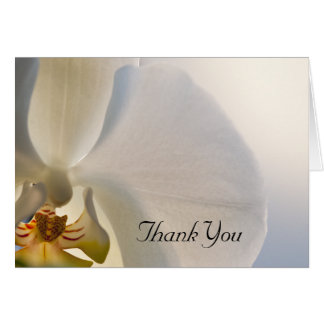White Orchid Elegance Thank You Card