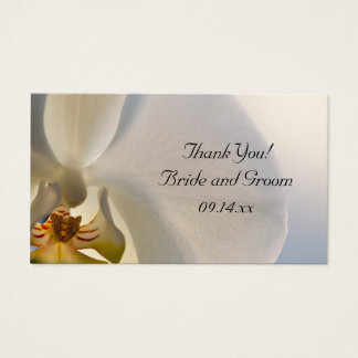 White Orchid Elegance Wedding Favor Tags
