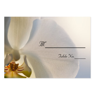 White Orchid Elegance Wedding Place Card