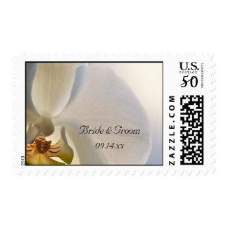 White Orchid Elegance Wedding Postage