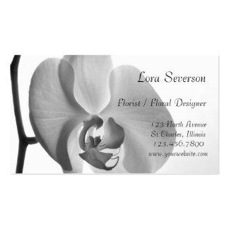 White Orchid Floral Designer Business Card